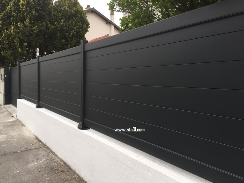 Lame de cloture aluminium cool cloture jardin aluminium for Cloture aluminium ajoure